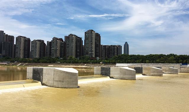 安昌河石桥铺闸坝