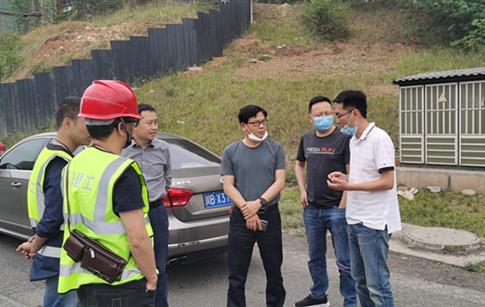 集团监事会赴二环路(科大立交-塘汛立交段)道路维修项目调研