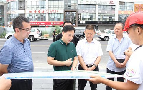 市委目标绩效办督查嘉来建工城建重点工程项目推进情况